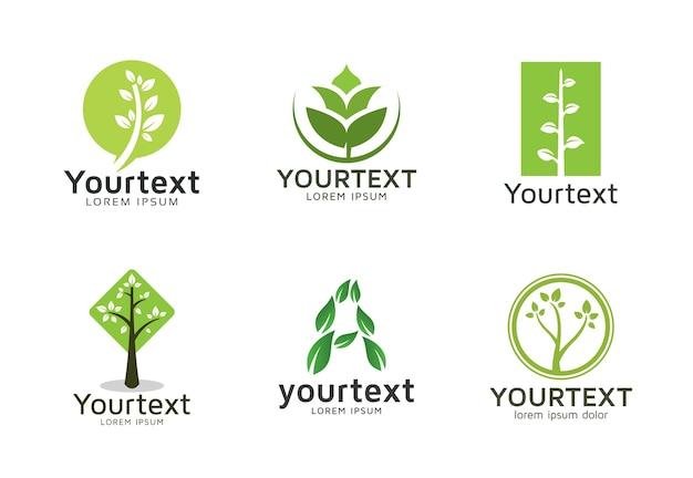 Sammlung grüne logos oder ikonen entwerfen