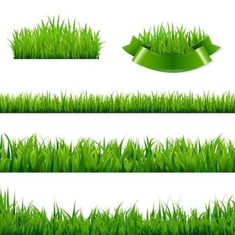 Sammlung grüner grasgrenzen,