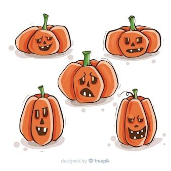 Sammlung halloween-kürbise