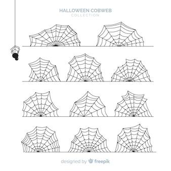 Sammlung Halloween-Spinnennetze