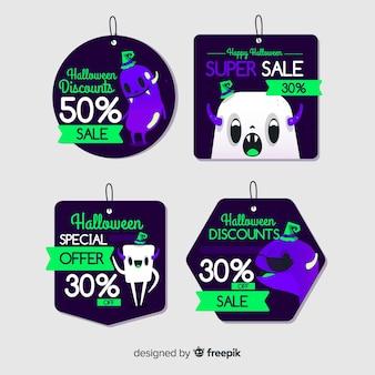 Sammlung halloween-verkaufsaufkleber