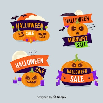 Sammlung halloween-verkaufsausweise