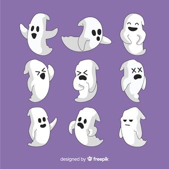 Sammlung hand gezeichneter halloween-geist