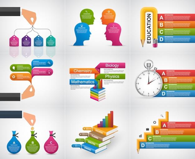 Sammlung infografiken. design-elemente.