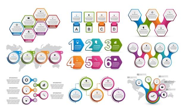 Sammlung infografiken designelemente