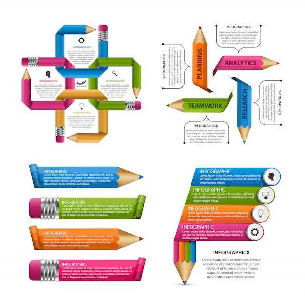 Sammlung infografiken elemente