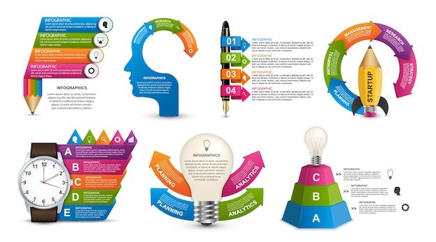 Sammlung infografiken für informationsbanner.