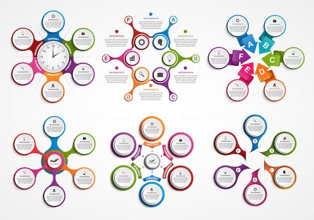 Sammlung infografiken