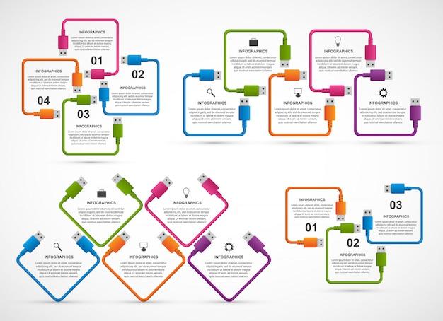 Sammlung infografiken.