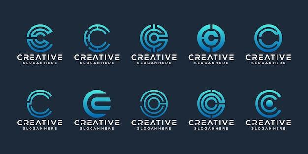 Sammlung initialen c logo vorlage