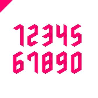 Sammlung isometrischer sportnummern