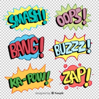 Sammlung komische spracheluftblasen