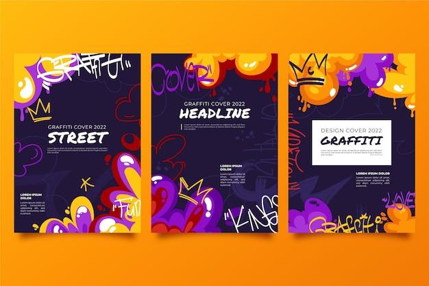 Sammlung kreativer graffiti-cover