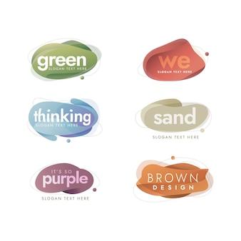 Sammlung kreativer logo-vorlagen