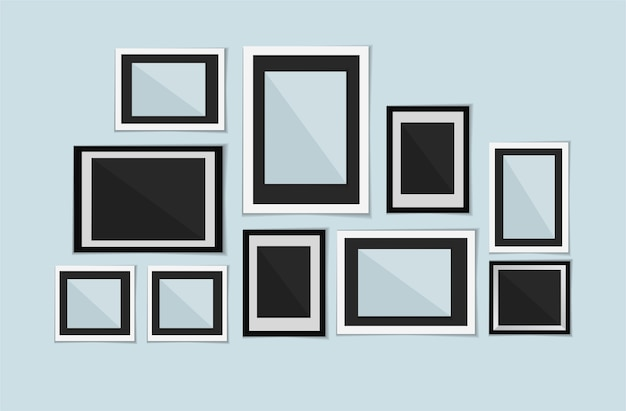 Sammlung leere fotorahmen des vektors