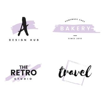 Sammlung logos und einbrennender vektor