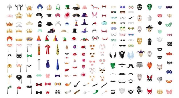 Sammlung lustiger masken
