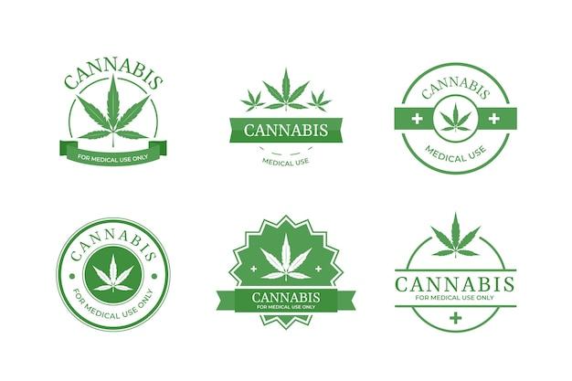 Sammlung medizinischer cannabisabzeichen