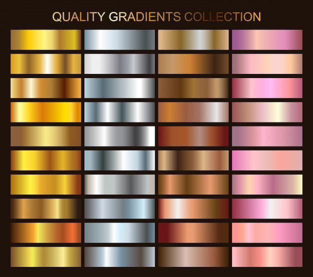 Sammlung metallischer farbverläufe