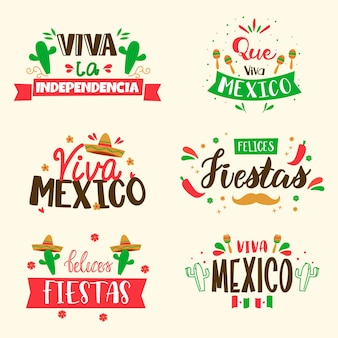 Sammlung mexikanischer unabhängigkeitskriegsabzeichen
