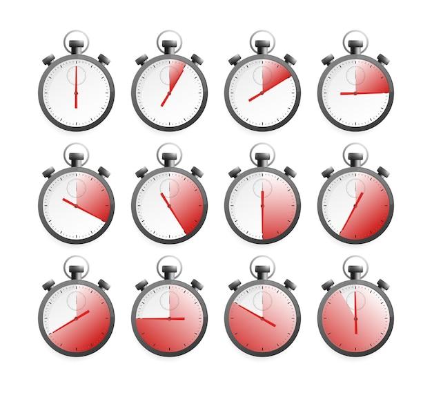 Sammlung mit chronometer-timer-sammlung