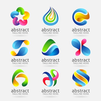 Sammlung modernes abstraktes logodesign