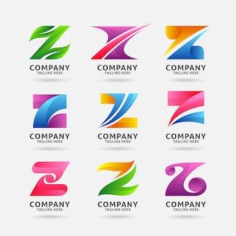 Sammlung modernes logodesign des buchstaben z
