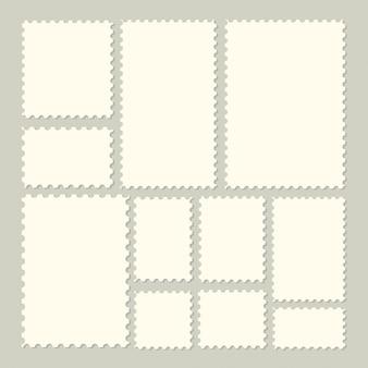 Sammlung modische briefmarken für aufkleber, aufkleber, app, modellpoststempel und tapete.