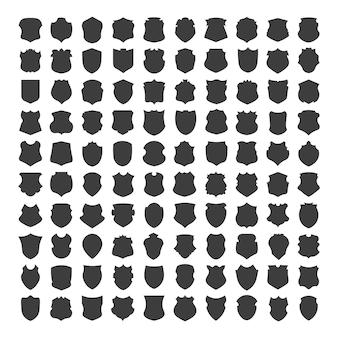 Sammlung monochromer abzeichen