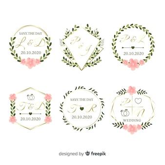 Sammlung monogrammhochzeitslogos