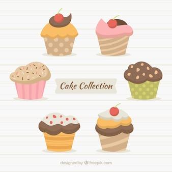 Sammlung muffins