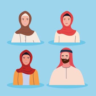 Sammlung muslimischer menschen