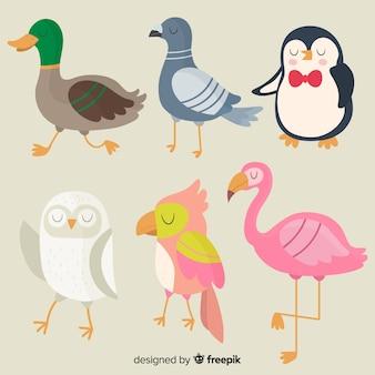 Sammlung nette hand gezeichnete vögel