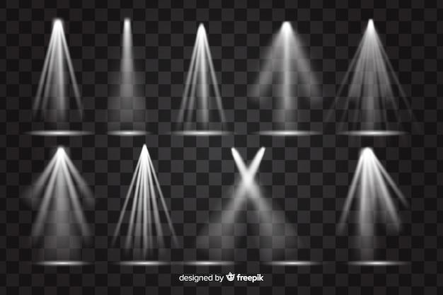 Sammlung realistischer lichtblitze