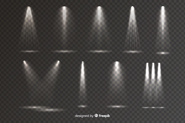 Sammlung realistischer szenenbeleuchtung