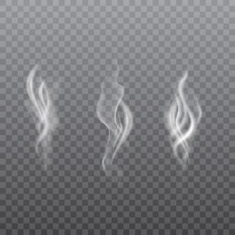 Sammlung realistischer weißer rauch