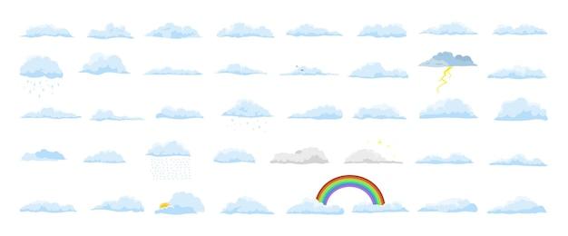Sammlung realistischer wolken