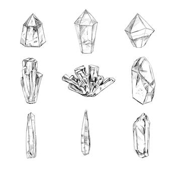Sammlung spiritueller kristalle