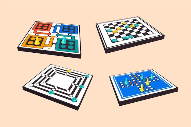 Sammlung strategischer brettspiele