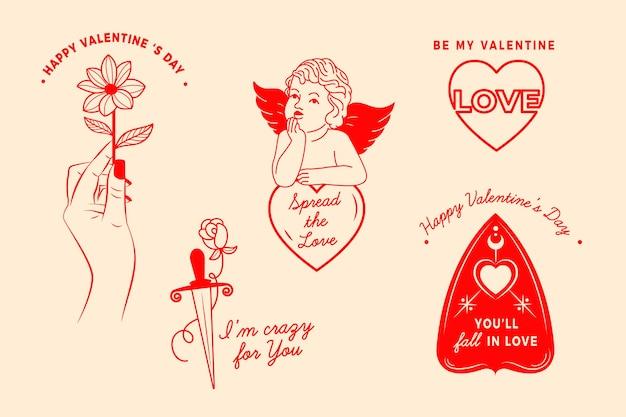 Sammlung valentinstagelemente