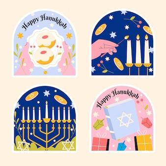 Sammlung verschiedener chanukka-aufkleber