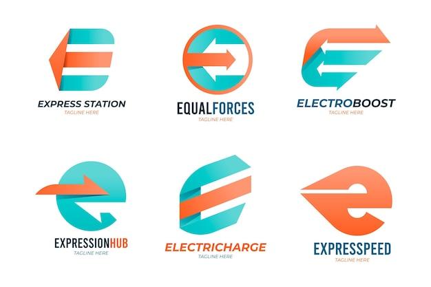 Sammlung verschiedener e-logos