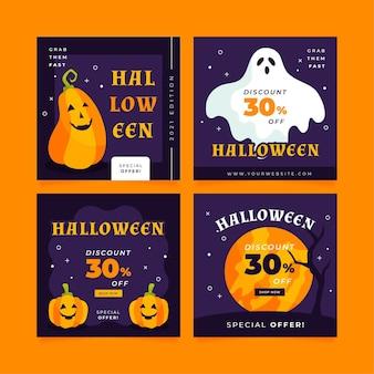 Sammlung verschiedener halloween instagram beiträge