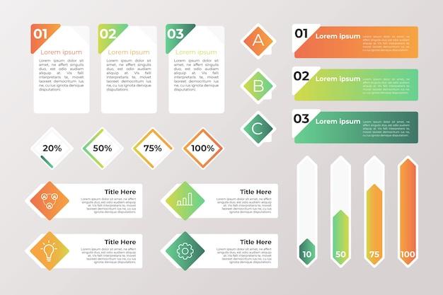 Sammlung verschiedener infografik-elemente