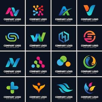 Sammlung von 16 modernen logo designs vorlage