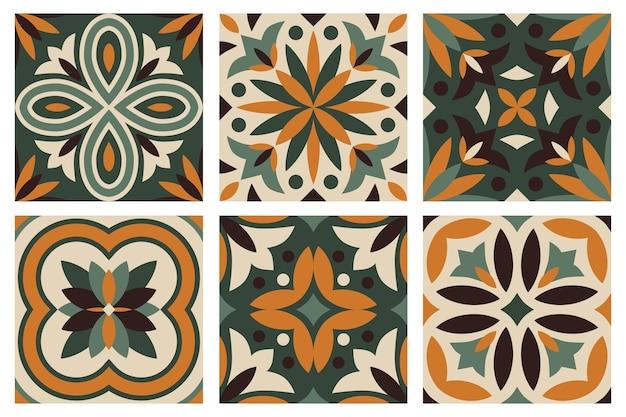 Sammlung von 6 keramikfliesen
