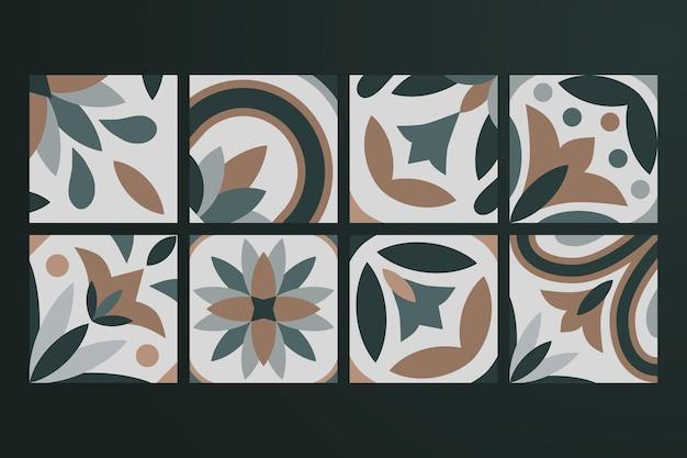 Sammlung von 8 keramikfliesen