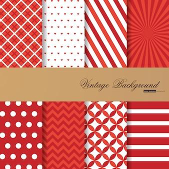 Sammlung von 8 roten farbhintergründen in der weinleseart