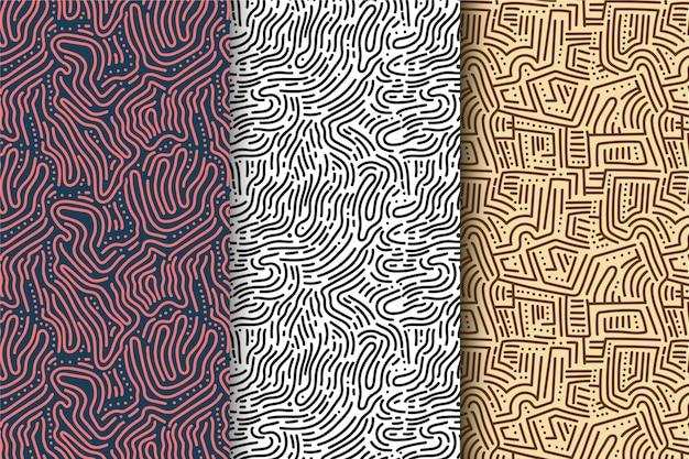 Sammlung von abgerundeten linien muster