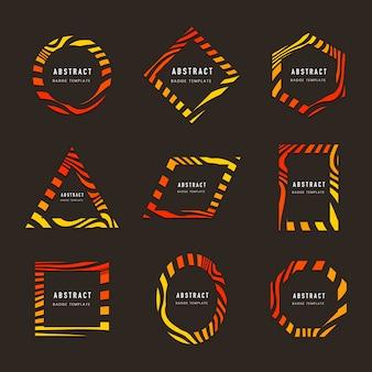 Sammlung von abstrakten abzeichenvektoren